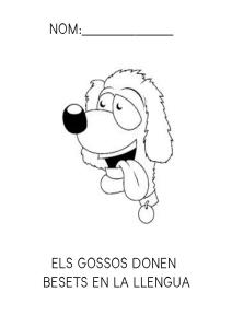 El gossos donen besets en la llengua